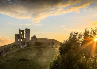 Corfe Castle using HDR