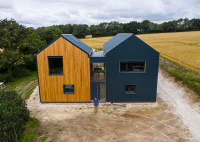iSpy Pixel - southdowns eco homes aerial photograph