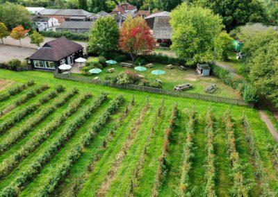 ispy pixel durleighmarsh tea barn aerial image